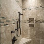 shower tile bathroom interior