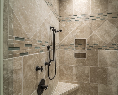 shower tile bathroom interior